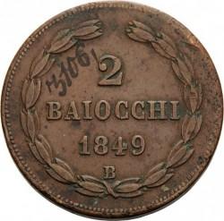 Moneta > 2baiocchi, 1848-1849 - Państwo Kościelne  - reverse