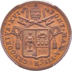 Монета > ½байокко, 1835-1845 - Папська область  - obverse