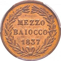 Монета > ½байокко, 1835-1845 - Папська область  - reverse