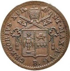 Монета > 1кваттріно, 1835-1844 - Папська область  - obverse