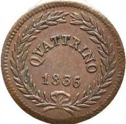 Монета > 1кваттріно, 1835-1844 - Папська область  - reverse