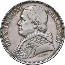 Монета > 5лир, 1867-1870 - Папская область  - obverse
