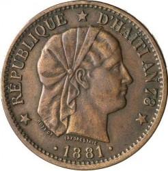Moneta > 2centymy, 1881 - Haiti  - obverse