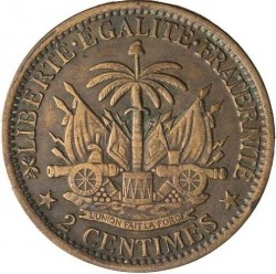 Moneta > 2centymy, 1881 - Haiti  - reverse