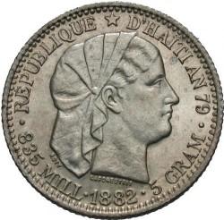 Монета > 20сантимів, 1881-1895 - Гаїті  - obverse