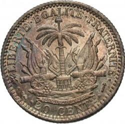 Монета > 20сантимів, 1881-1895 - Гаїті  - reverse