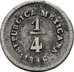 Moneda > ¼real, 1842-1863 - México  - reverse