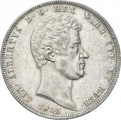 Moneta > 5lire, 1831-1849 - Sardegna  - obverse