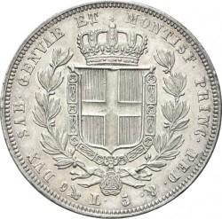 Moneta > 5lire, 1831-1849 - Sardegna  - reverse