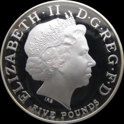 Монета > 5фунтів, 2014 - Велика Британія  (Перша річниця з дня народження Принца Джорджа Кембриджського) - obverse