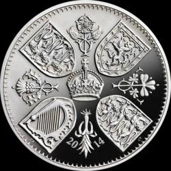 Монета > 5фунтів, 2014 - Велика Британія  (Перша річниця з дня народження Принца Джорджа Кембриджського) - reverse
