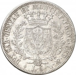 Münze > 5Lire, 1825 - Sardinien  - reverse