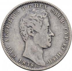 Moneta > 1lira, 1831-1849 - Sardegna  - obverse