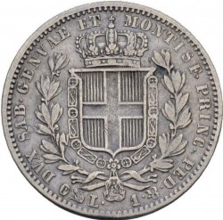 Moneta > 1lira, 1831-1849 - Sardegna  - reverse