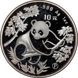 Moneda > 10yuan, 1992 - China  (Panda) - reverse