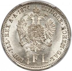 Coin > ¼florin, 1872-1875 - Austria  - reverse