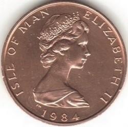 Монета > 1пенні, 1984 - Острів Мен  (500 років Геральдичній палаті) - obverse