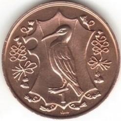 Монета > 1пенні, 1984 - Острів Мен  (500 років Геральдичній палаті) - reverse