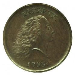 Монета > 1цент, 1793 - США  (Flowing Hair Cent) - obverse