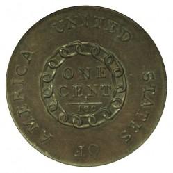Монета > 1цент, 1793 - США  (Flowing Hair Cent) - reverse