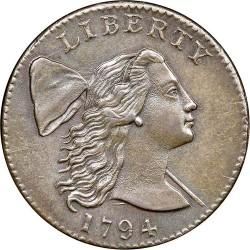 Монета > 1цент, 1793-1795 - США  (Liberty Cap Cent) - obverse