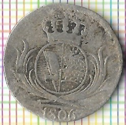 Кованица > 6крајцера, 1806 - Virtemberg  (Small monogram) - obverse
