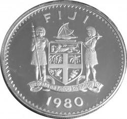 Moneta > 10dollari, 1980 - Figi  (10° anniversario dell'indipendenza) - obverse