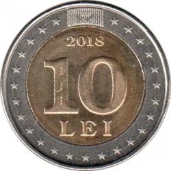 Монета > 10леїв, 2018 - Молдова  (25th Anniversary - National Currency) - obverse
