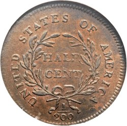 Münze > ½Cent, 1794-1797 - USA  (Liberty Cap Half Cent) - reverse