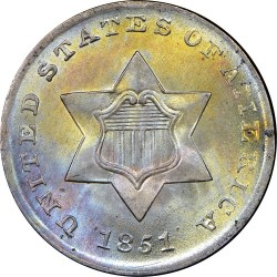 Монета > 3цента, 1851-1853 - США  - obverse