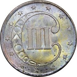 Монета > 3цента, 1851-1853 - США  - reverse