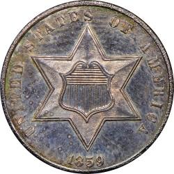 Монета > 3цента, 1859-1862 - САЩ  - obverse