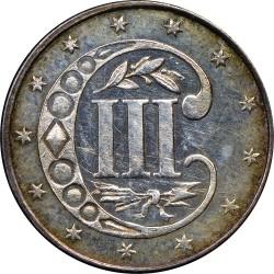 Монета > 3цента, 1859-1862 - САЩ  - reverse