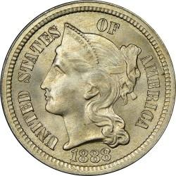 Монета > 3цента, 1865-1889 - США  (Three Cent Nickel) - obverse