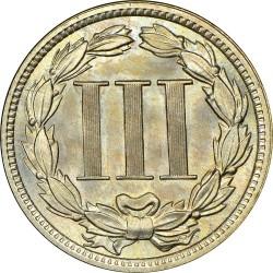 Монета > 3цента, 1865-1889 - США  (Three Cent Nickel) - reverse