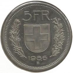 Moneta > 5franków, 1986 - Szwajcaria  - reverse