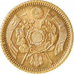 Coin > 1yen, 1874 - Japan  (Gold /yellow color/) - obverse