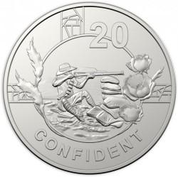 Монета > 20центов, 2018 - Австралия  (Дух АНЗАК - Уверенный) - reverse