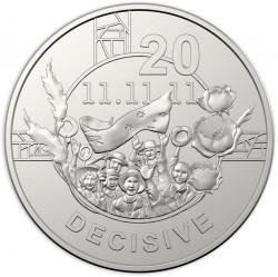 Moneda > 20centavos, 2018 - Australia  (Espíritu Anzac - Decisivo) - reverse