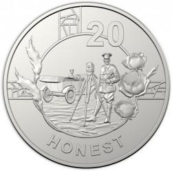Moneda > 20centavos, 2018 - Australia  (Espíritu Anzac - Honesto) - reverse