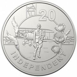 Монета > 20центів, 2018 - Австралія  (Дух АНЗАК - Незалежний) - reverse