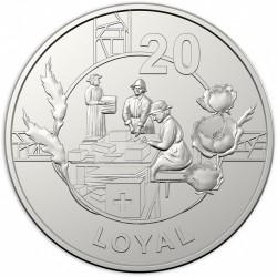 Moneta > 20centesimi, 2018 - Australia  (Spirito di Anzac - Leale) - reverse