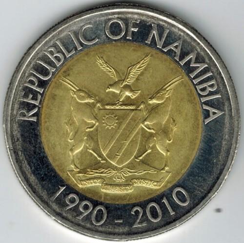 Republic Of Namibia 10 Dollars 2010-1990-2010 Münzen International