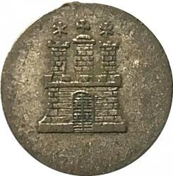 Coin > 1dreiling, 1846 - Hamburg  - obverse