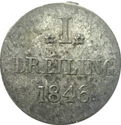 Coin > 1dreiling, 1846 - Hamburg  - reverse