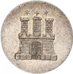 Coin > 1sechsling, 1846 - Hamburg  - obverse