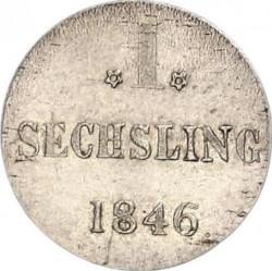 Coin > 1sechsling, 1846 - Hamburg  - reverse