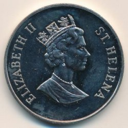 Moneta > 50pence, 1998 - Sant'Elena  (Fondo Mondiale per la Natura - Balenottera azzurra) - reverse