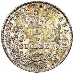 Монета > ¼гулден, 1836 - Британска Гвиана  - reverse