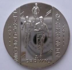 Moneda > 1corona, 2004 - Isla de Man  (XXVIII Juegos Olímpicos de verano, Atenas 2004 - Carreras) - reverse